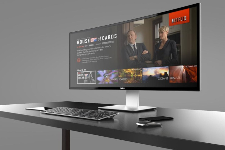 Image of Netflix playing on a Thinvent Auto 3 Android Media Player